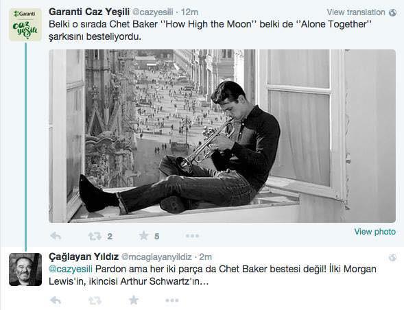 Çağlayan Yıldız'ın Türkiye Caz Sosyal Medyası ile tatlı sohbetleri