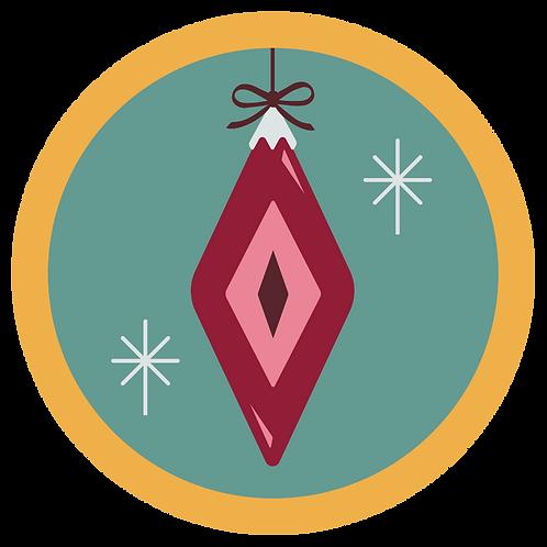 Retro Holiday Badge