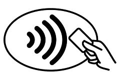 Contactless payment accepted at Otterdale View Farm.