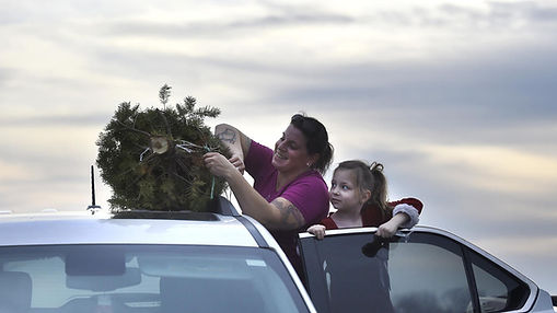 Family fun at Otterdale View Christmas Tree Farm- photo credit: Carroll County Times