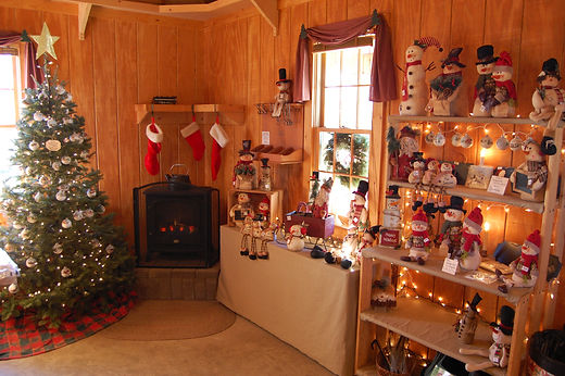 Inside the shop at Otterdale View Christmas Tree Farm.
