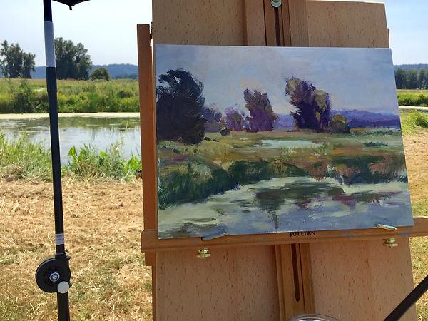 landscape painting Sauvie Island