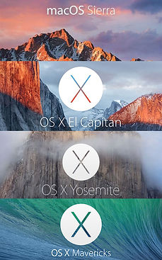 All 4 Mac Operating Systems available