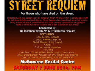 Concert: STREET REQUIEM, Sat 7 June, 7 PM