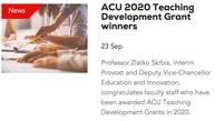 ACU Teaching Development Grant, 2020