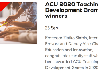 ACU Teaching Development Grant, 2020