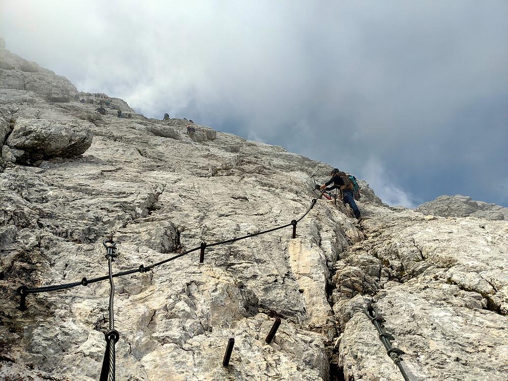 Der Alpspitz Klettersteig, oder Alpspitz Ferrate