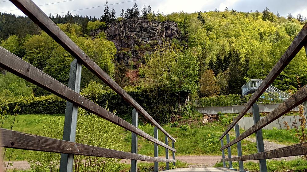 Der Felsen des Todtnauer Klettersteiges