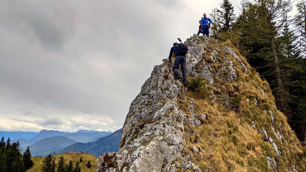 Der Wasserwand Ostgrat kurz vor dem Gipfel