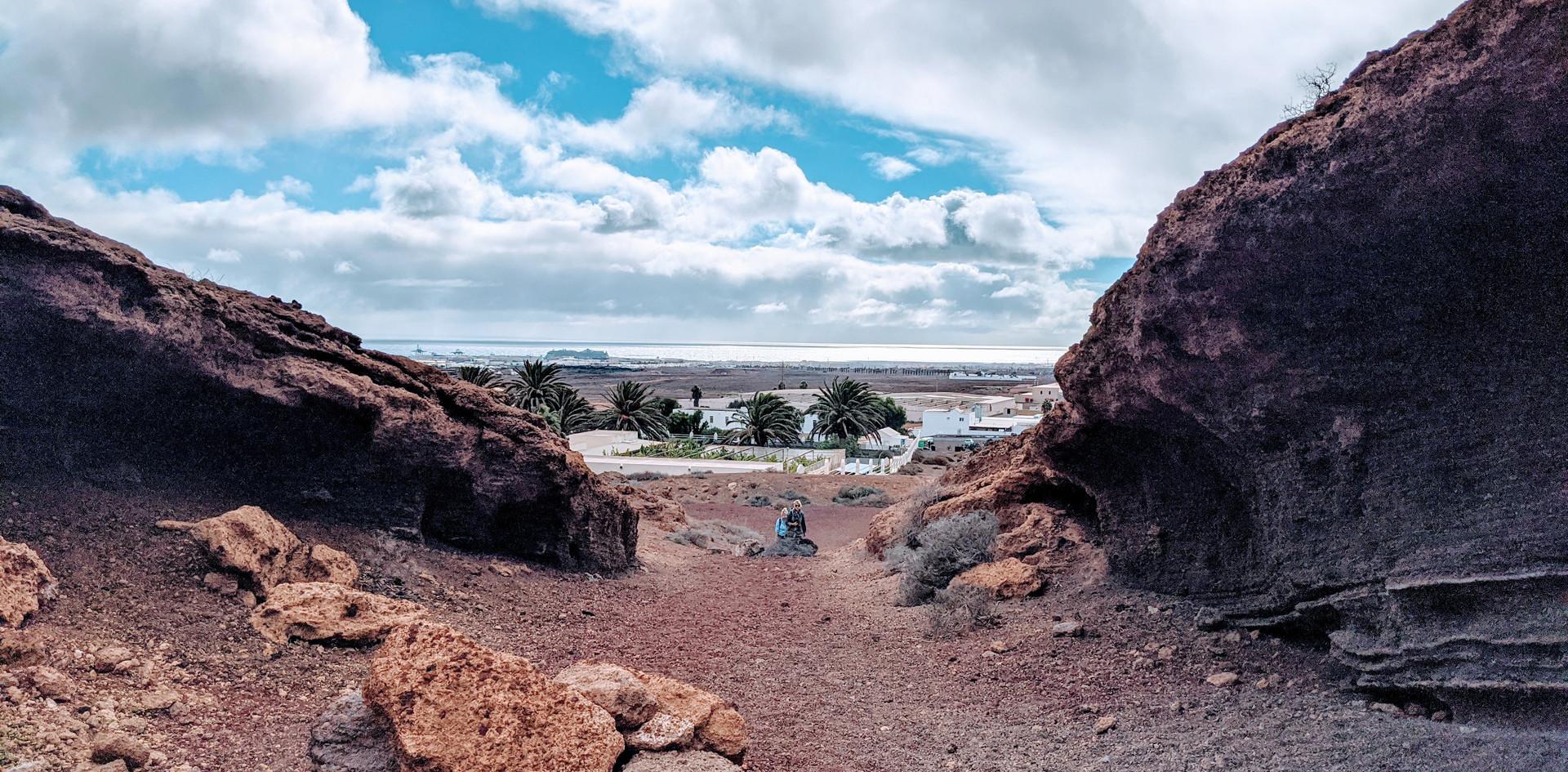 Blick aus dem Vulkan