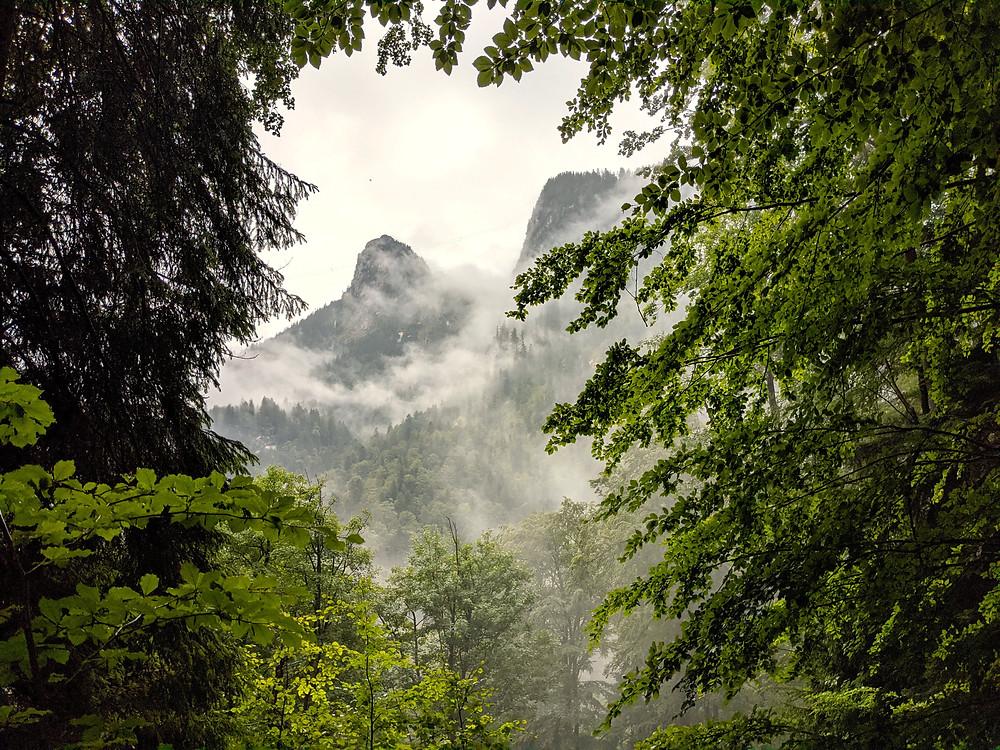 Auf dem Weg zur Höllentaleingangshütte