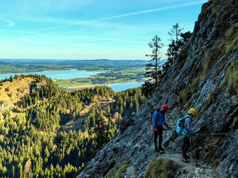 Der Tegelberg Klettersteig - Ein Anspruchsvoller Klettersteig