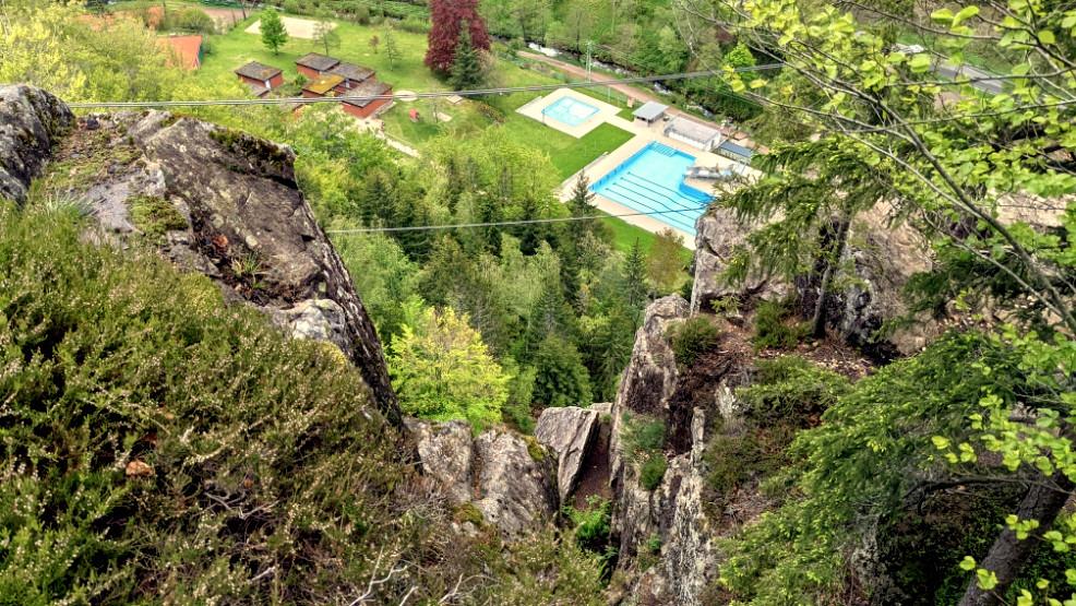 Die Seilbrücke im Todtnauer Klettersteig
