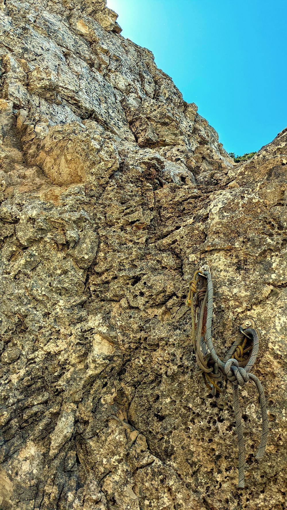Kletter / Abseilstelle an der Apostel Paulus
