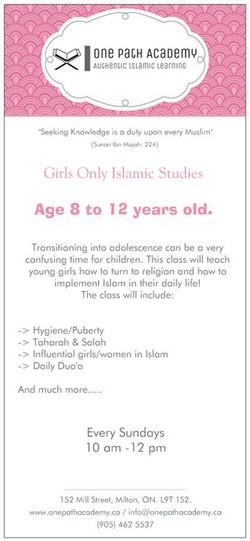 Girls Only Islamic Studies