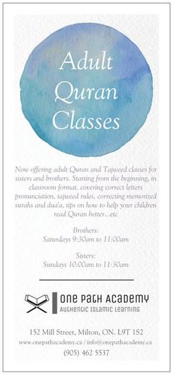 Adult Quran Classes