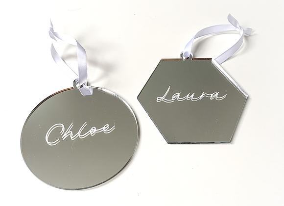 Silver Acrylic Ornament