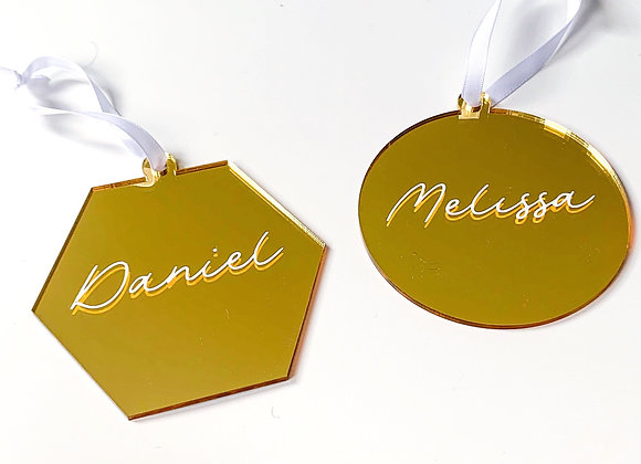 Gold Acrylic Ornament