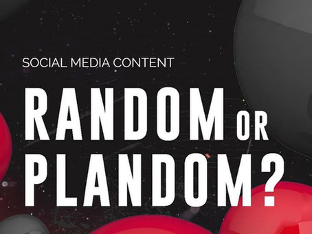 RANDOM OR PLANDOM what's your strategy for SOCIAL MEDIA CONTENT?