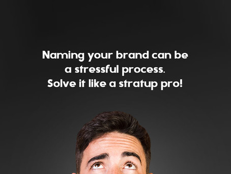 Naming your business can be a stressful process. Solve it like a stratup pro!