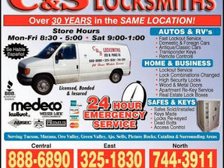 C & S Locksmith & Security!