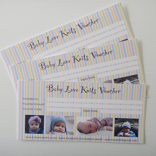 Baby Love Knits Gift Vouchers