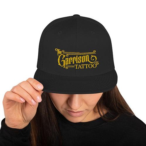 The Garrison Tattoo Bar Logo Embroidered Snapback Hat