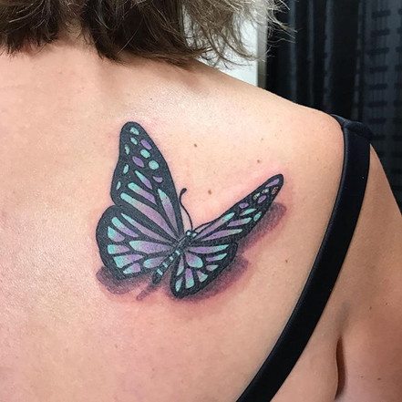 Butterfly for her father. __viciousinksh