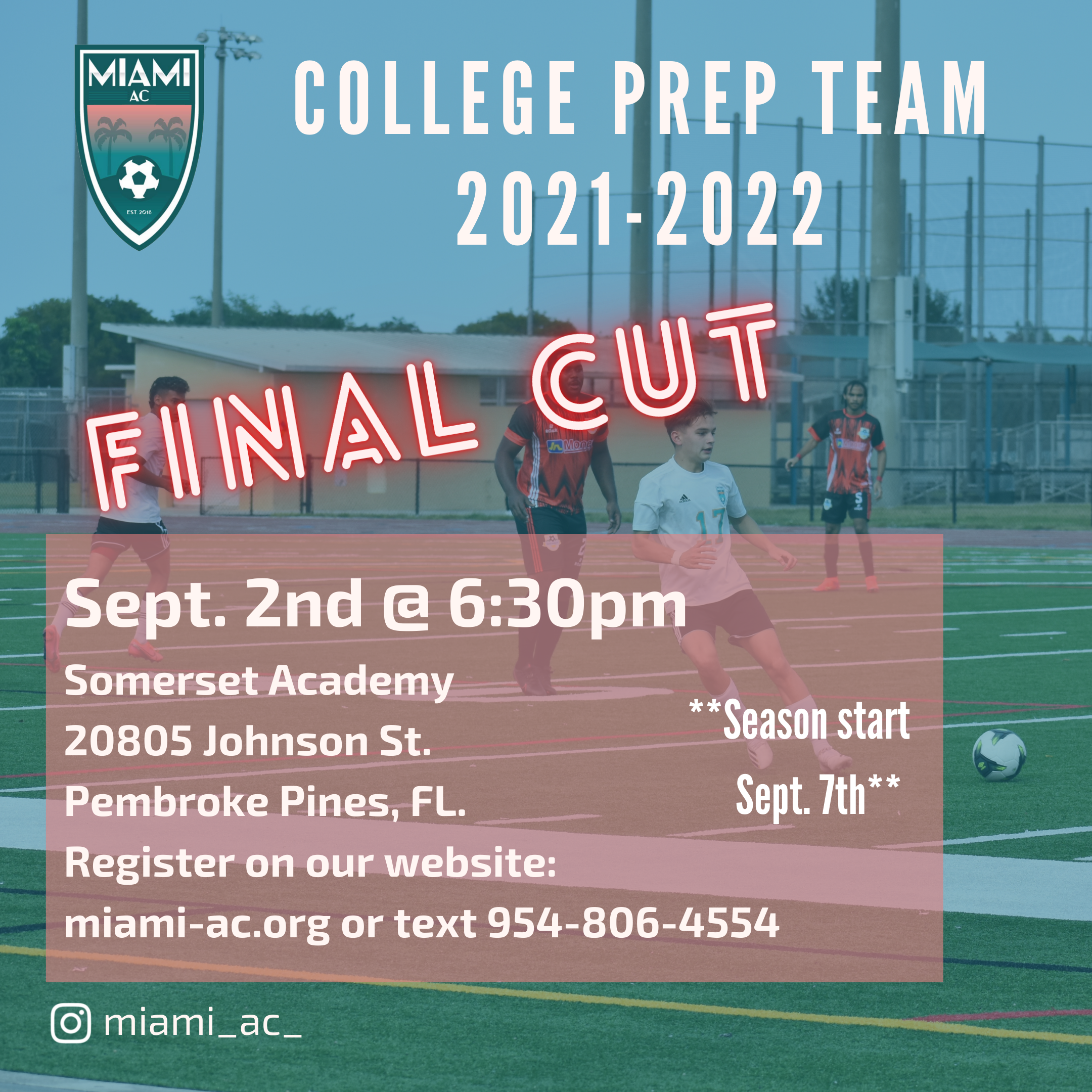 Tryouts for College Prep Team 2021-22