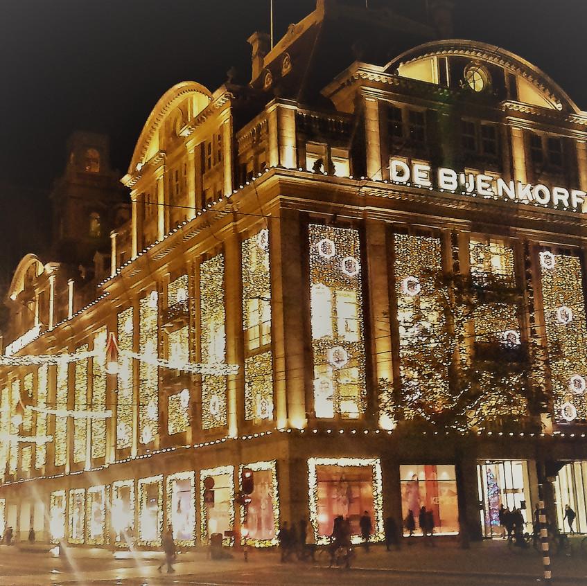 Christmas Lights at De Bijenkorf Amsterdam