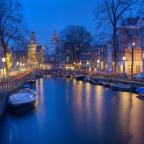 Amsterdam - city of bicycles, canals and lights