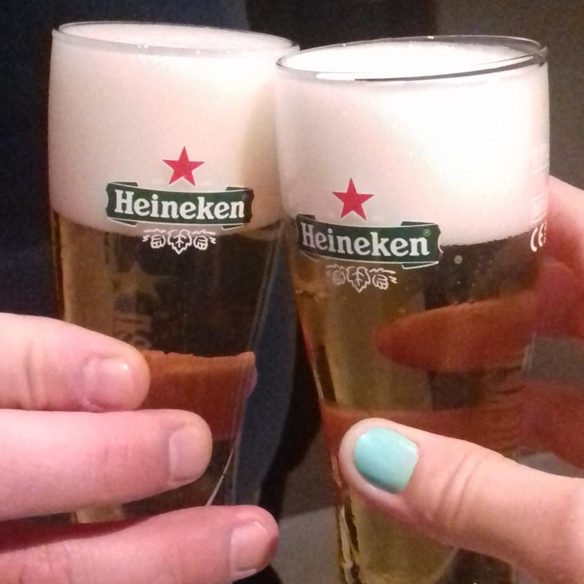 Fresh beer at Heineken Experience Amsterdam