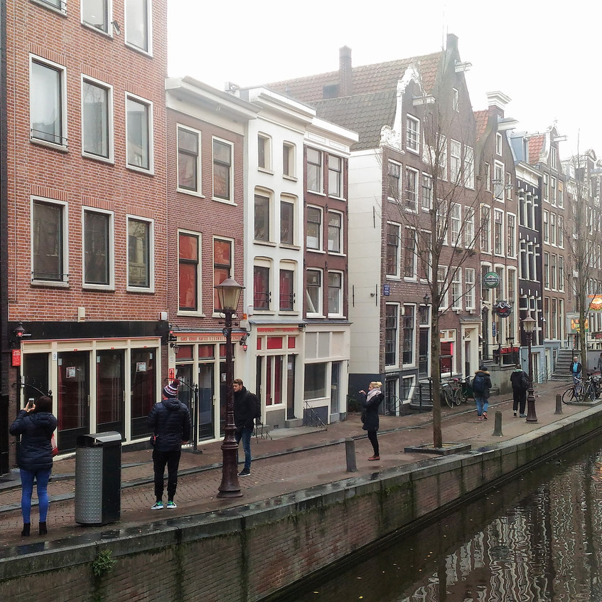 Red Light District on Amsterdam Canal
