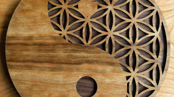 Yin Yang Flower of Life Wall Art