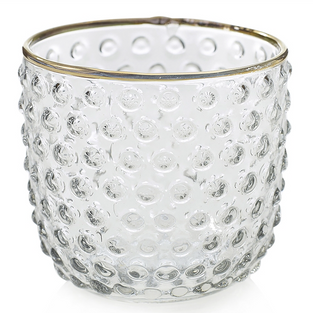 Clear with Gold Rim Votives