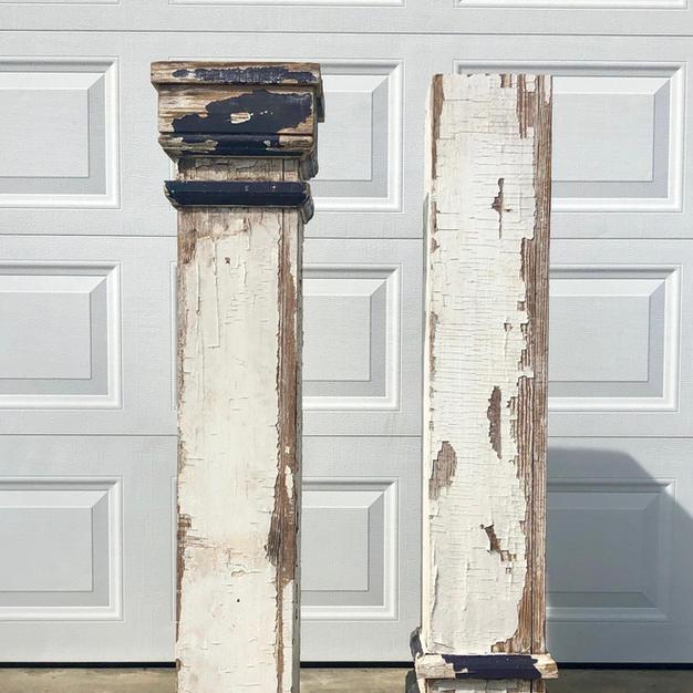 Vintage Chippy Columns