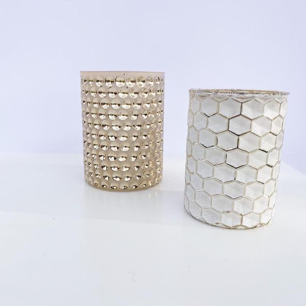 Textured Votive Vases