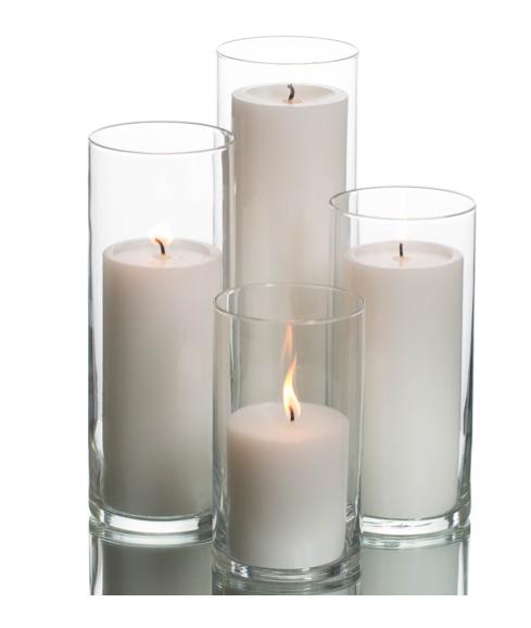 Ivory Pillar Candle Set
