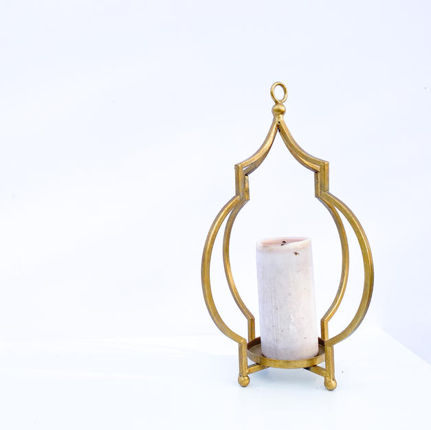 Decorative Gold Pillar Stand