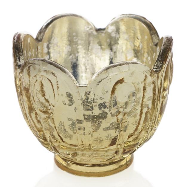 Gold Tulip Votive