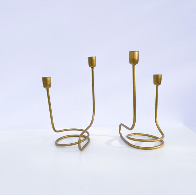 Modern Gold Tapers