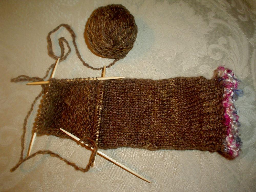 Wheely Wooly Farm's Gwendolyn's Wheelspun Yarn sock
