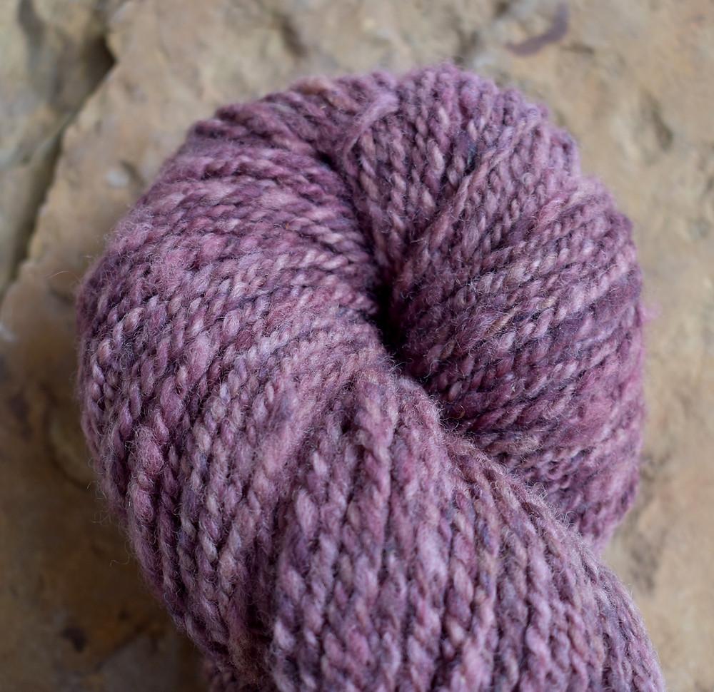 Wheely Wooly Farm's Beatrice's Violets 100% Wheelspun Yarn