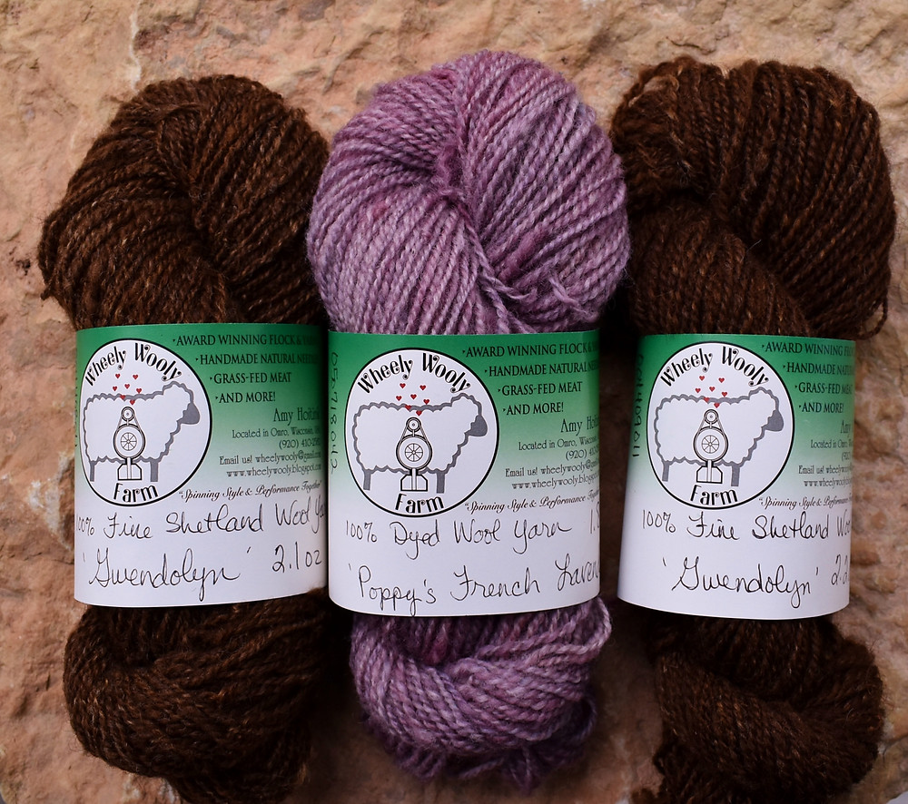 Wheely Wooly Farm's Idea Bundle in Moorit and French Lavender