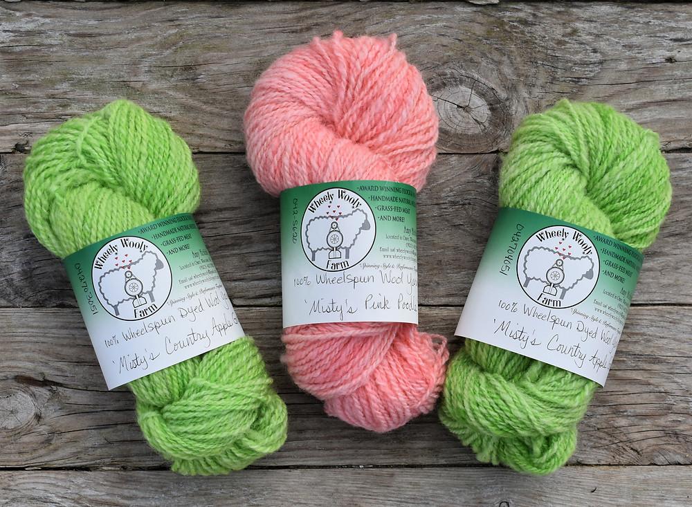 Spring Trio Wheelspun Yarn Wheely Wooly Farm Misty