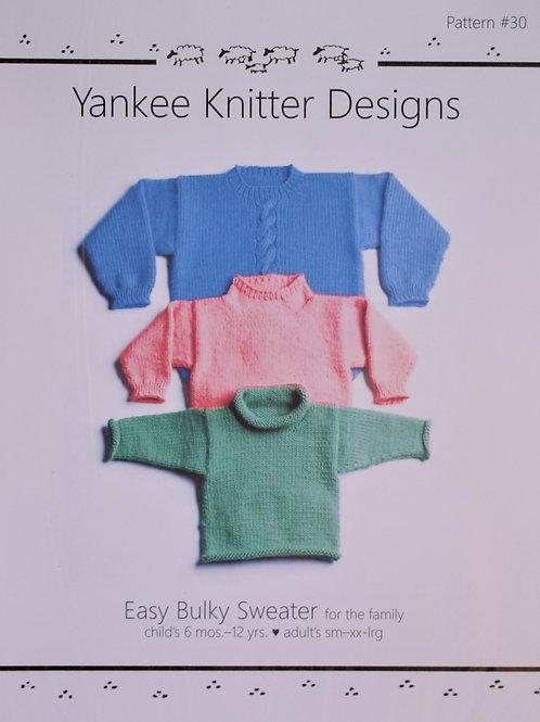 Easy Bulky Sweater Pattern