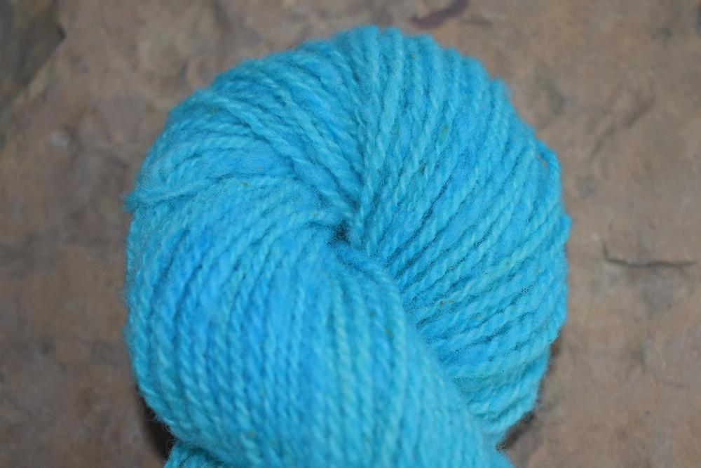 Wheely Wooly Farm's 100% Wheelspun Yarn Blue Frost