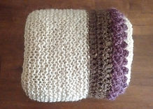Honey Knitted Wrap with Mocha/Berry by Wheely Wooly Farm