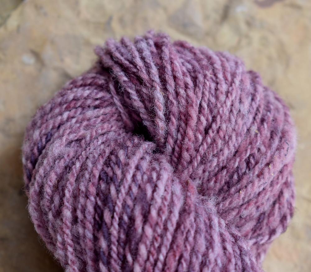 Wheely Wooly Farm's 100% Wheelspun Yarn Jenny's Violets