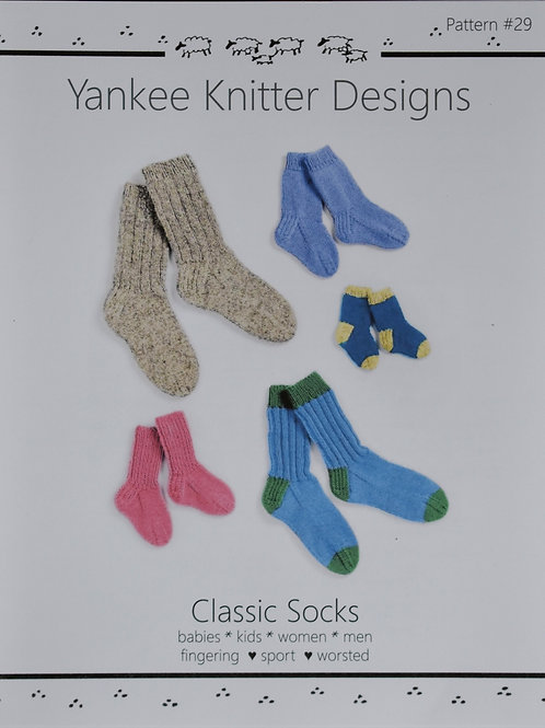 Sock Pattern for the Whole Family